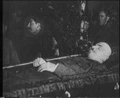 Stalin near Lenin`s body, 1924
